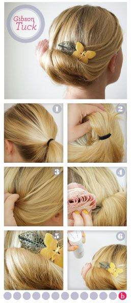 We love vintage hairstyles! Learn how to recreate the Edwardian Gibson Tuck in 6 steps!