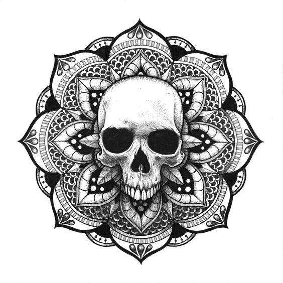 Mandala Crne Skull Tattoos Pinterest Mandalas Und Totenkpfe