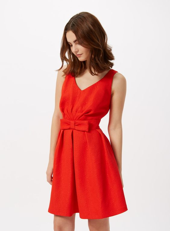 Petites Range red bow dress from the Miss Selfridge Date Night ...