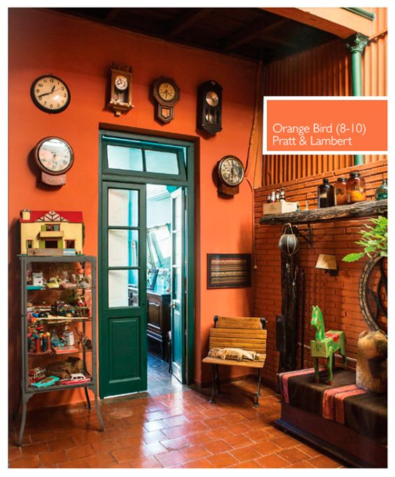 Something Like This Burnt Orange Wall Color For The