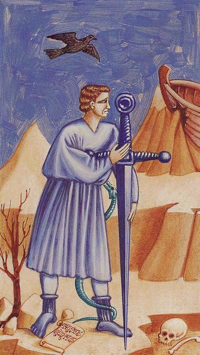Ace of Swords - Giotto Tarot by Guido Zibordi
