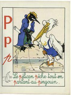 """Jean de la Fontinelle, illustrator/artist, alphabet, letter """"P"""""""