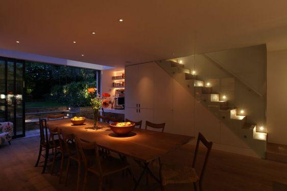 led indirekte beleuchtung decke dunkeles interior leuchte - esszimmer indirekte beleuchtung