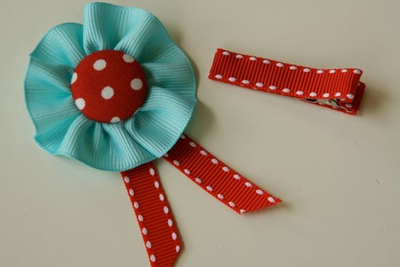 Bunting Inspired Ribbon Buttons