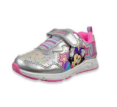 NEW Disney Minnie Mouse Toddler Girl/'s Sneaker,light up size 6 7 8 9 10 11 12