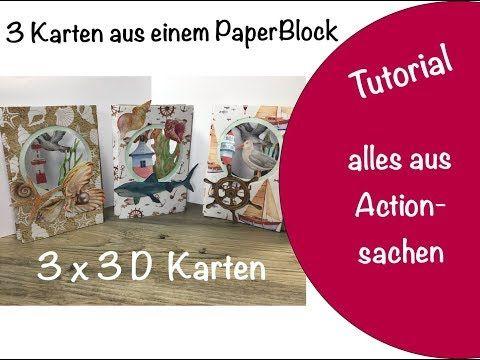 3 X 3d Karten Action Luxe Paper Block Aus Meinem Haul