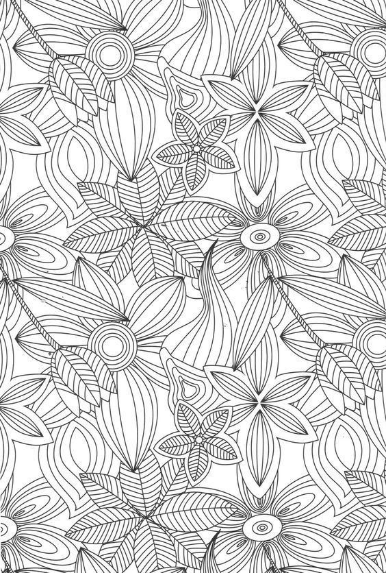 Pin By Nehal On Coloring Book For Adults Art Therapy Coloring Book Flower Coloring Pages Coloring Books