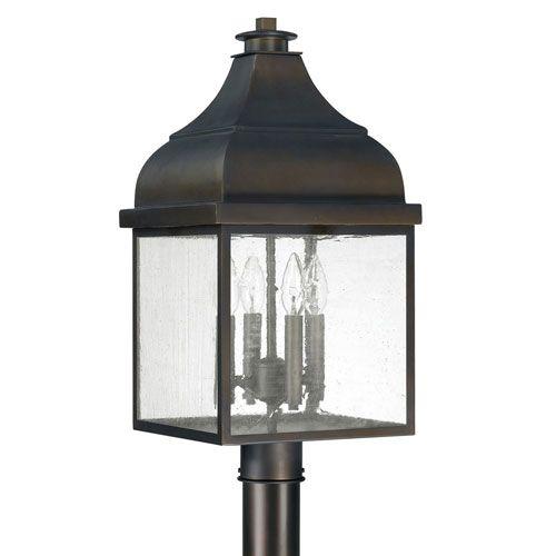251 First Kenwood Old Bronze Four Light Outdoor Post Mount Bellacor Capital Lighting Post Lights