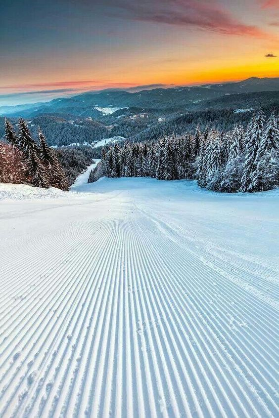Aaaaaaah Best feeling, first on the slopes, the sound of the crunch, no one around and the smooth feeling.... Heaven