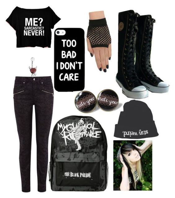 """""""black"""" by werewolflover0302 ❤ liked on Polyvore featuring Karen Millen, Brandy Melville and Bling Jewelry"""
