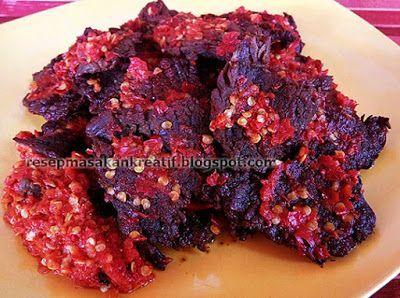 Resep Dendeng Sapi Batokok Bumbu Balado Cabe Merah Sederhana Dendeng Sapi Resep Masakan Indonesia Dendeng