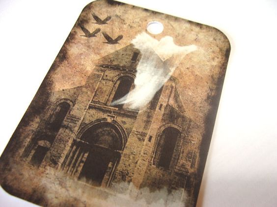 Prim Ghostly Gift Tags For A Haunted HAlloween Set of by SiriusFun, $5.50