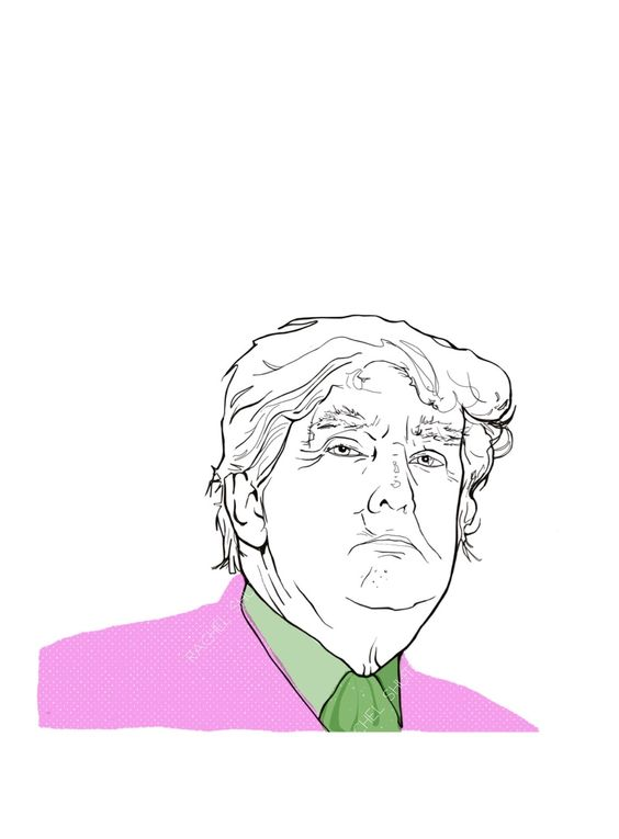 Donald Trump as the Joker Digital portrait by Rachel Shute.