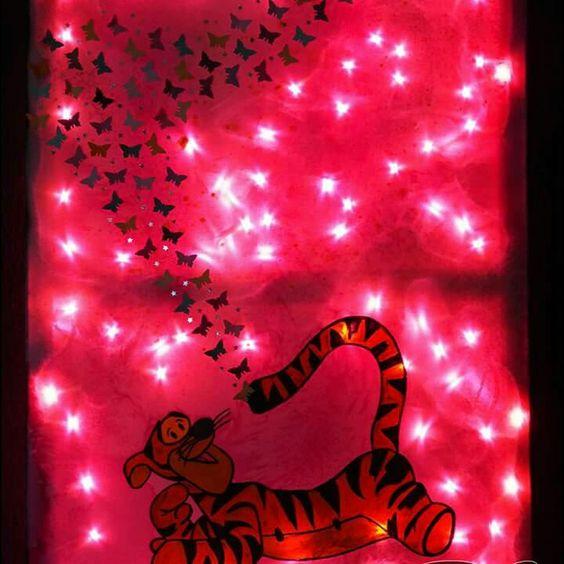 Nachtlicht Keilrahmen Tigger von Winnie the Pooh  Kreative Fantasy m.ART