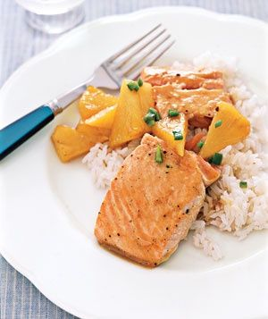 Maple-Glazed Salmon with http://Pineapple...SO good!