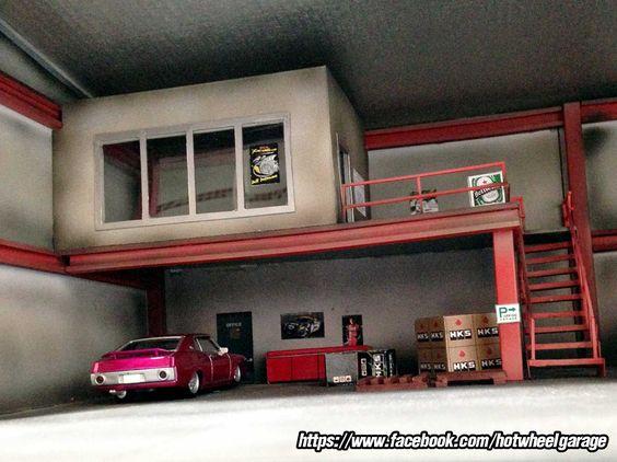 Diorama 2step garage maquettes dio pinterest for Usine desaffectee exterieur