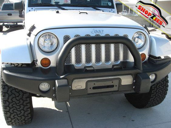 Jeep Wrangler 2&4 DR Mesh Grille Grill Upper Insert 7PC Grillcraft JEP-3600-SW