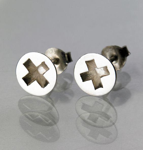 Screw earrings