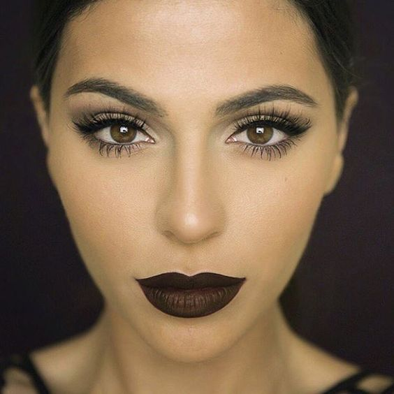 """Wow!!! Love this bold lip and wispy lashes @tenipanosian"""