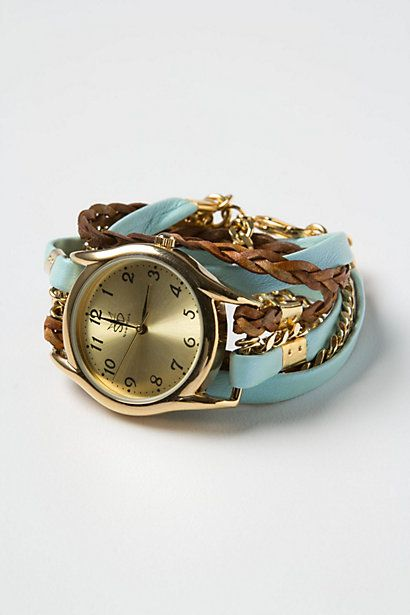 Anthropologie wrap watch...i LOVE this! Someone PLEASE show my parents!