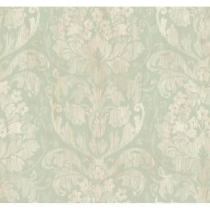 York Wallcoverings 60.75 sq. ft. Stria Damask Wallpaper