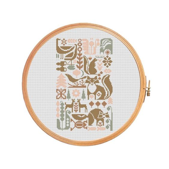 Looking for your next project? You're going to love Vintage sampler forest - Cross stitch by designer Patterns Cross stitch.