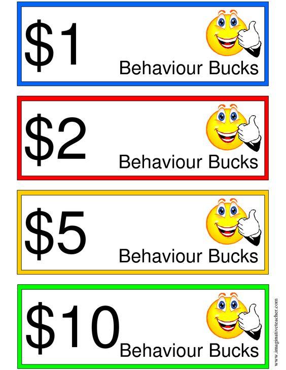 classroom bucks template - pin printable behavior bucks reward on pinterest
