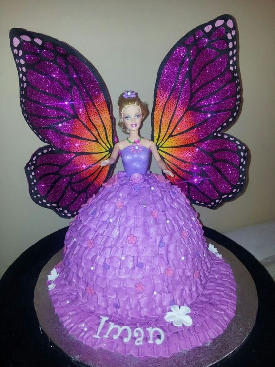 Butterfly Barbie Cake Images : Barbie Mariposa cake My cakes Pinterest Barbie and Cakes