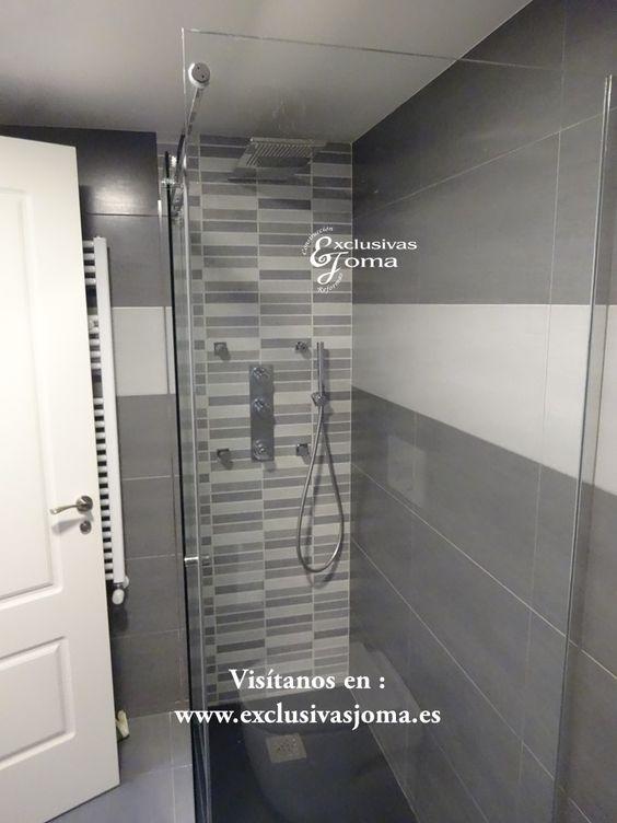 Reforma integral de baño en color gris marengo y gris ...