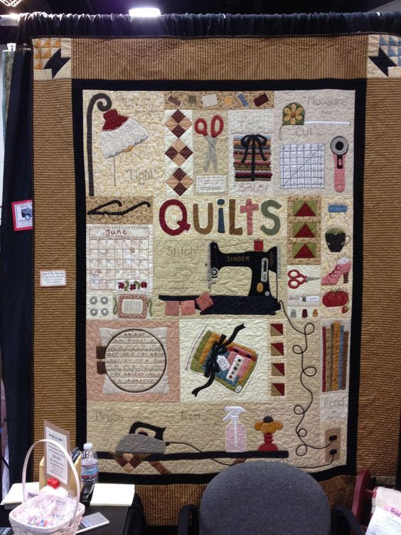For my sewing room. A Quilter's World by Lori Holt. Got the pattern at Long Beach 1012 Quilt Show.: