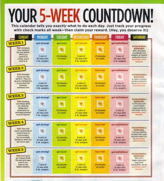 5 week plan: