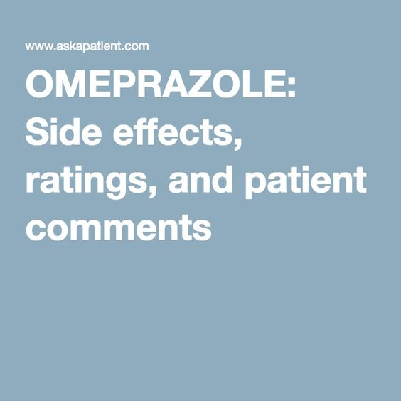 OMEPRAZOLE: Side effects, ratings, and patient comments