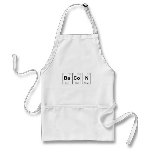 Bacon Periodic Table Apron #Apron #Bacon #Science #Gifts