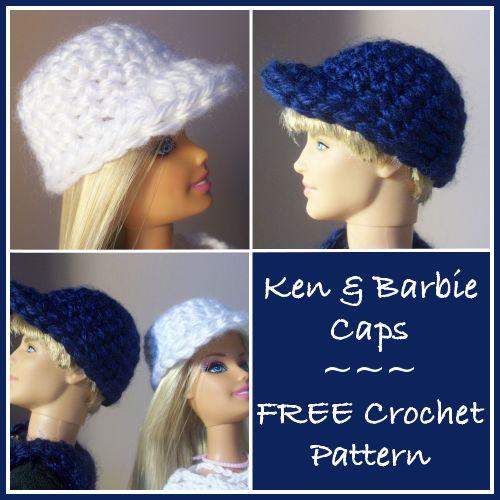 Free Crochet Patterns For Barbie Hats : Barbie, Free crochet and Cap dagde on Pinterest