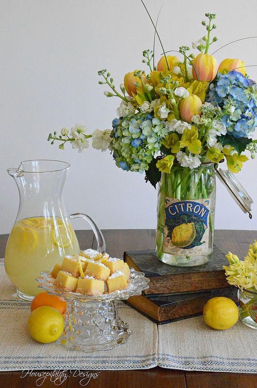 French Canning Jar with beautiful flowers ♥ via Housepitality Designs