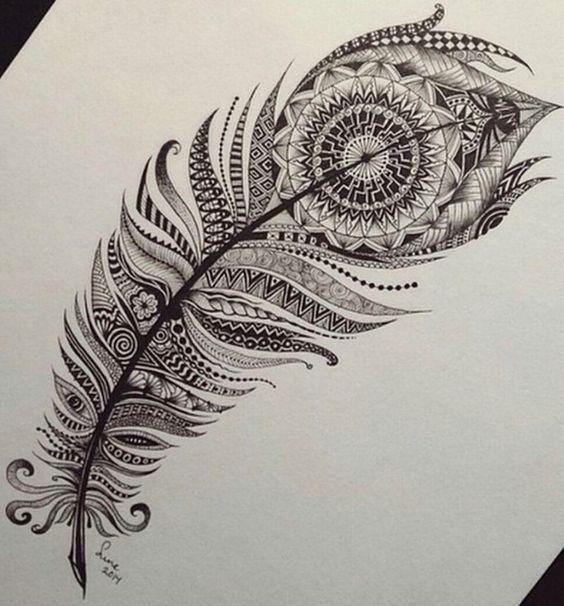 Feather tattoo idea