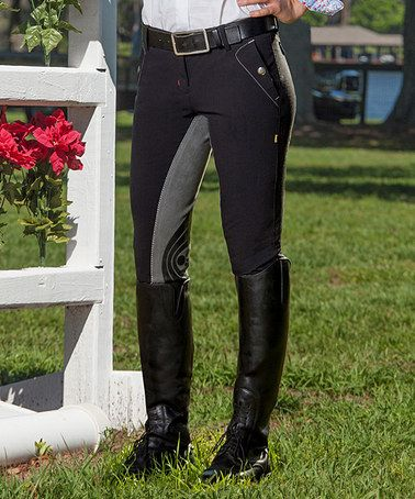Another great find on #zulily! Black & Gray European Full-Seat Breeches #zulilyfinds