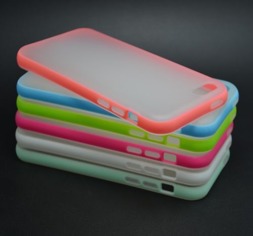 DUAL COLOR Translucent RUBBER SOFT SILICONE BUMPER TPU CASE COVER FOR IPHONE 5C