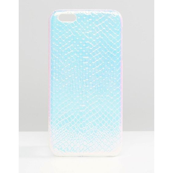 ASOS iPhone 6S Plus Case In Holographic Snake ($12) ❤ liked on Polyvore featuring accessories, tech accessories, multi and asos