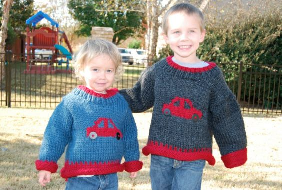 These boys love Hotwheels! So naturally, I just had to make them some cute Christmas sweaters!