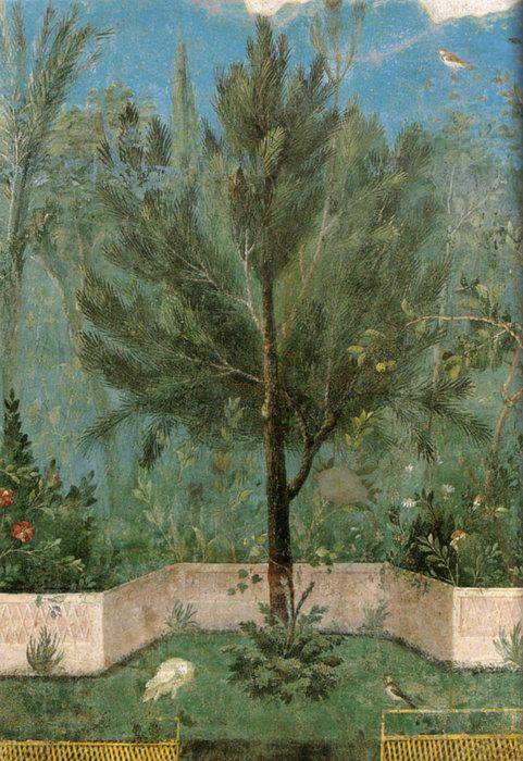 Roman Fresco, Livia Villa, Rome,30-20 BCE: