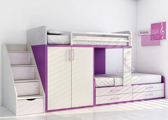 Lit mezzanine avec bureau pour enfant (mixte) - KIDS UP 2: 74 - ROS 1 S.A.