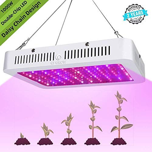 Best Seller Led Grow Light Cfgrow 1000w Full Spectrum Growing Light Double Chips Plant Grow Lights Daisy Chain Hydroponics Greenhouse Indoor Plant Veg Flower On In 2020 Grow Lights For Plants Led