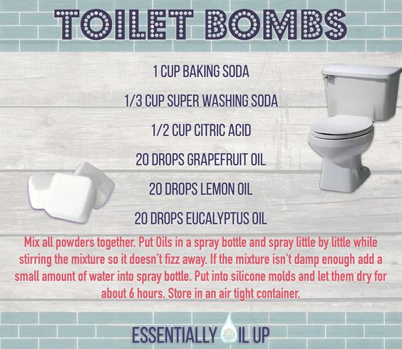 Toilets essential oils and diy and crafts on pinterest - Diy toilet cleaning bombs ...
