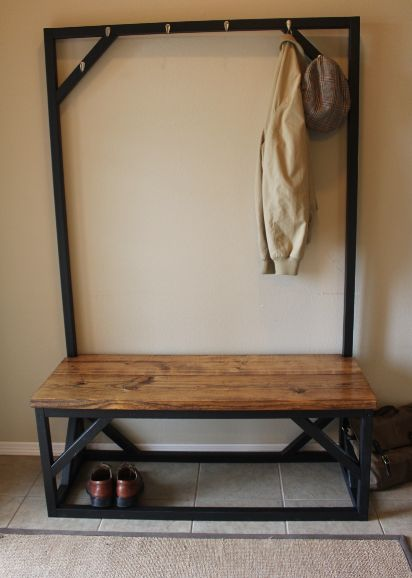 Coat Rack Bench From Racks Pinterest Wrought Iron Design And Love This