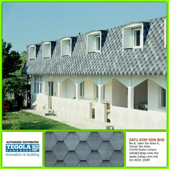 Beautiful Residential Roofing Using Tegola Premium Mosaik Shingle With A Hexagonal Shapes The Particular Shades Colour Residential Roofing House Styles House
