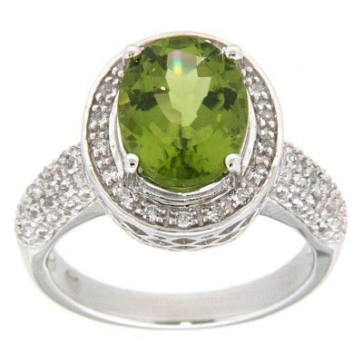 Bliss Collection 3.13 CT TGW Peridot & Topaz Sterling Silver Fashion Ring