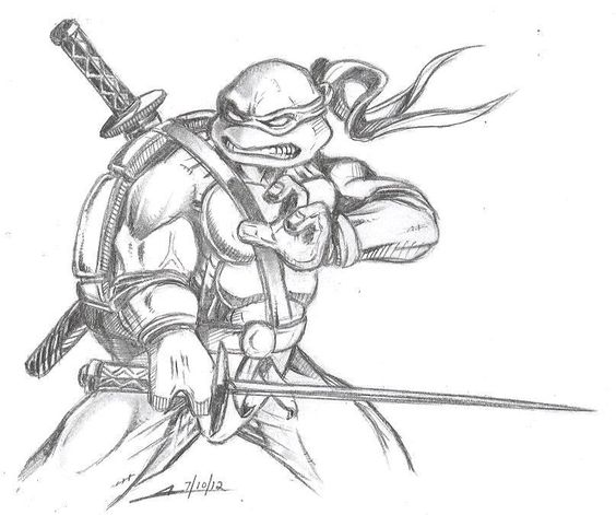 tmnt coloring pages on pinterest - photo#30