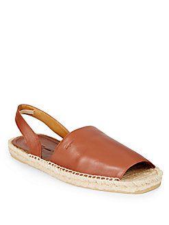 Basilio Leather & Jute Sandals