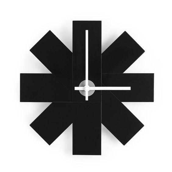 Watch+Me+Wall+Clock+Black,+Aluminium,+Normann+Copenhagen
